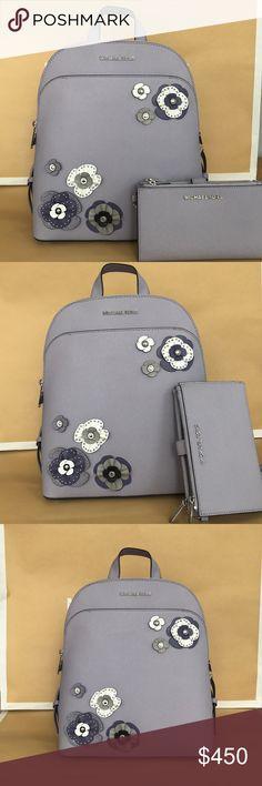 9850dd28b8dce 2pc💜 Michael Kors Lilac backpack zip wristlet NWT