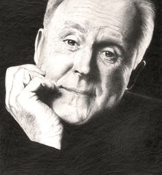 Pencil drawing of American actor to John Lithgow