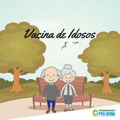 O cuidado com a saúde não tem idade. Traga seu vovô e sua vovó para atualizarem o cartão de vacina :D #Vacina #TerceiraIdade #ProAtiva