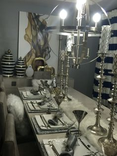 Zgallerie decor zgallerie table white&silver