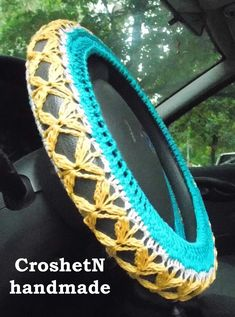 Car Accessories Car Gifts Crochet Wheel Cover Car Decor Wheel Cover Steering wheel cozy Wheel cover Steering wheel cover Gift H18102