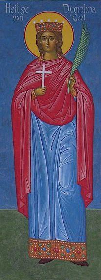Supllicatory Prayer to St. Dymphna, helper of the mentally ill. Ste Dymphne de Geel.JPG