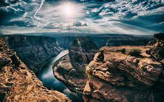 Download wallpapers Arizona, canyon, rocks, gorge, summer, America, USA