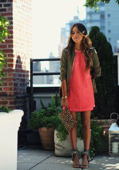 Jacket: Rag & Bone from Neiman Marcus Dress: By Zoe Heels: Isabel Marant Clutch: Clare Vivier