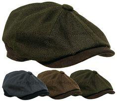 STETSON 8 Panel Newsboy Cap Gatsby Men Ivy Hat Golf Driving wool Flat Cabbie M L
