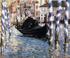 MANET EDOUARD-The Grand Canal, Venice (Blue Venice) - Edouard Manet
