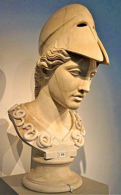 Head of Athena in the Velletri Type – Joy of Museums Virtual Tours Athena Goddess, Aphrodite, Athena Tattoo, Athena Symbol, Poseidon Statue, Rome, Corinthian Helmet, International Symbols, Art Antique