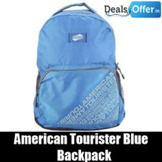 American Tourister Blue Backpack @ 20% Off