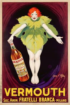 Afbeelding [ID: 20080701 ] Jean D'Ylen - Poster advertising 'Fratelli Branca' vermouth