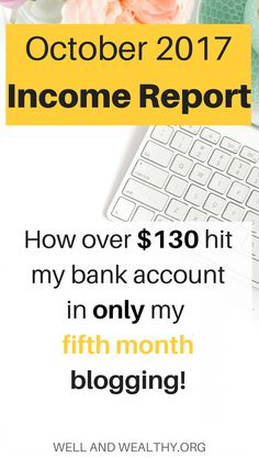 October 2017 Income Report: My Fifth Month Blogging