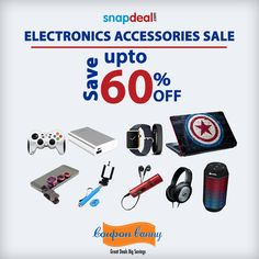 This is an offer you cannot resist !  dress up your phone or latest laptop with the latest in Electronics Accessories! All at an attractive discount.  Claim the deal here: http://www.couponcanny.in/snapdeal-coupons