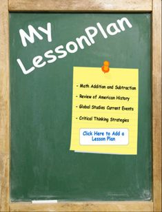 My LessonPlan is a professional way to present, create, customize, email and print lesson plans.  Our newest features allow you to both customize lesson plans to fit your school district requirements or personal preference and copy existing lesson plans for quick lesson plan creation.  From elementary school through high school, create lesson plans in subjects ranging from English, Math and Science, to Fine Arts and History. The list goes on as far as your imagination will take it.  With the…