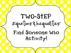 student practic, math, classroom idea, hs algebra, inequ find, twostep equat, activ