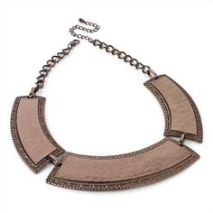 Minerva Collection Choker / Collar Necklace Bronze / Brown