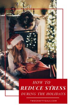 Holiday stress got you down? Check out these tips to help you recede holiday stress and spend more time with the ones that really matter this holiday season! #diyblog#holidayblog#reducestress#holidaytips
