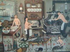 Transmaids.......folk artist Ralph Cahoon.