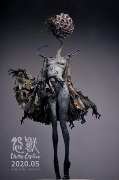 Dark Creatures, Alien Creatures, Mythical Creatures, Monster Concept Art, Monster Art, Creepy Art, Weird Art, Creature Concept Art, Creature Design