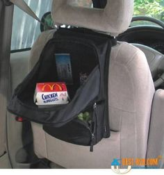 Use a Backpack as a Desk - 20 Easy DIY Ideas and Tips for a Perfectly Organized Car