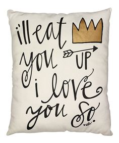Look at this I Love You So Pillow on #zulily today!