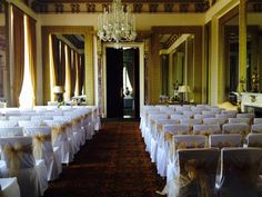 Wynyard Hall wedding chair covers www.styledandseated.co.uk
