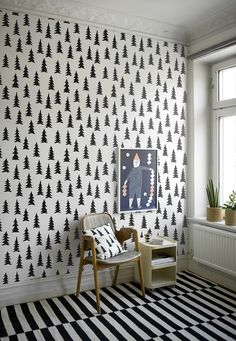 This wallpaper would be perfect in a winter retreat in Sweden somewhere...