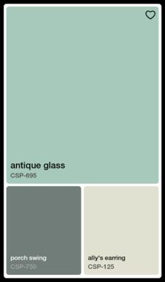 Benjamin Moore Antique Glass | for the bathroom. Beadboard in white and the darker can be a trim color