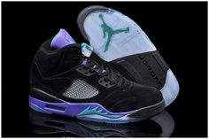 best service 0bce3 38edf Now Buy Nike Air Jordan 5 Mens Black Emerald Grape Ice Colors Shoes New Save  Up From Outlet Store at Footlocker.