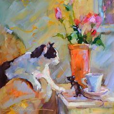 """""""Coffee Cat/ Macchiato Mouse"""" © Dreama Tolle Perry"""