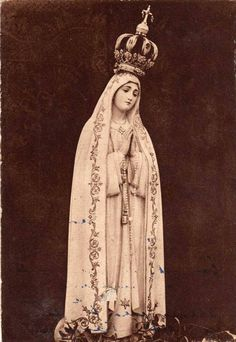 The statue Our Lady of the Rosary of Fatima, Portugal.