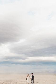 Las Vegas Dry Lake Bed Elopement   dust storms & clouds florals   Flora Pop