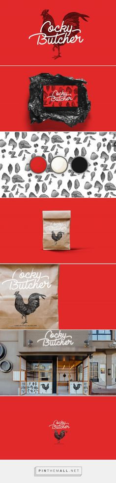 Cocky Butcher Branding by Rudolf Bou Saleh | Fivestar Branding Agency – Design and Branding Agency & Curated Inspiration Gallery #branding #brandidentity #restaurantdesign #design #designinspiration