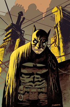 Batman Paul Popeish color by ~JHarren on deviantART