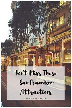 Anyone planning a visit to San Francisco should definitely check out this great list of San Francisco attractions for first-time visitors to one of the great California cities!