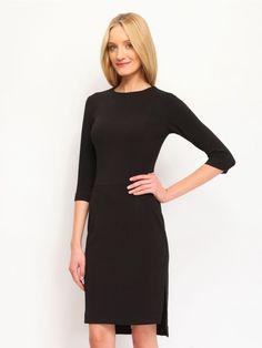 Γυναικείο κομψό φόρεμα. Χρώμα: Μαύρο. High Neck Dress, Dresses, Fashion, Turtleneck Dress, Gowns, Moda, Fashion Styles, Dress, Vestidos