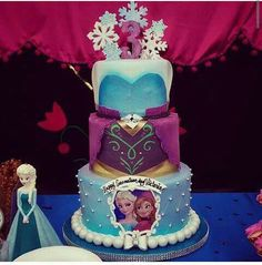 So Pretty!  3 tier Frozen themed cake