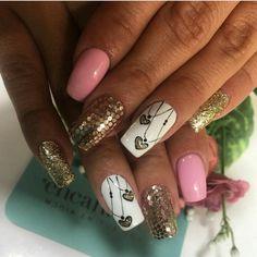 Nail Stuff, Manicure, Nails, Ideas Para, Nail Art, Beauty, Dresses, Nail Designs, Work Nails