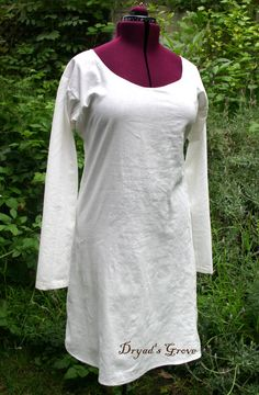 This simple shift is the basic undergarment that can be worn under gowns from the medieval or renaissance periods. Or you could just sleep in it.