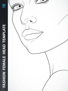 Hairstyle – Female Head Template for Fashion Hairstyle, Jewelry, Accessories… Fashion Illustration Sketches, Fashion Sketches, Fashion Figure Templates, Croquis Fashion, Drawing Templates, Female Head, Jewelry Drawing, Fashion Figures, Fashion Art