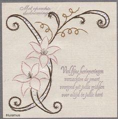 Voorbeeldkaart - Condoleance. - Categorie: Borduren - Hobbyjournaal uw hobby website