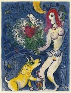 Marc Chagall, (1887-1985), 1967, Le Cirque (The circus). on ArtStack #marc-chagall #art