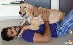 Ashish Sharma with his puppy