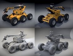 De-mining Robot (Blender 3D) by TomWalks.deviantart.com on @DeviantArt