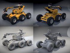 De-mining Robot (Blender 3D) by TomWalks.deviantart.com on @DeviantArt