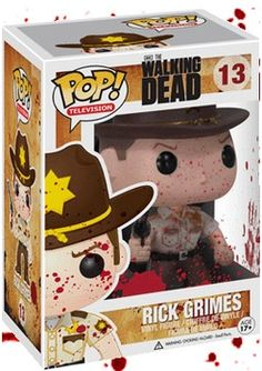 The Walking Dead - Rick POP! Vinyl Figure (Blood Splatter) By Funko - TV / Movie - - Popcultcha http://popvinyl.net #popvinyl #funko #funkopop