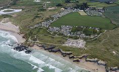 Godrevy Towans aerial image   by John D F