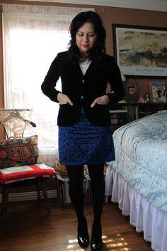 Sunday best: Black & Blue | A Skirt a Day