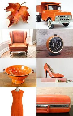 Vintage Orange by Heather from RedThreadGifts --Pinned by Cute Little Canvases Pin