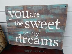 another pretty sign, diy home crafts, pallet projects, repurposing upcycling, The combination of dark brown and teal give this sign such warmth