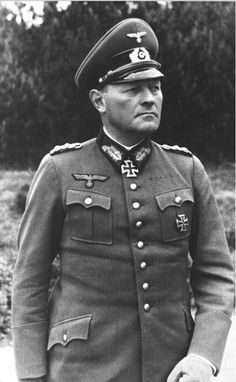"Generaloberst Erich Hoepner was a senior German general during WW2. He commanded corps and armies during the invasion of Poland and on the Eastern Front. He was implicated in the July 20, 1944 attempt on Hitler's life and as a result he was arrested, suffered a ""trial"" before the People's (kangaroo) Court and was hanged by the Gestapo."