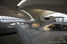 Awesome photos of Saarinen's TWA terminal at JFK, including some areas that haven't been open to the public.